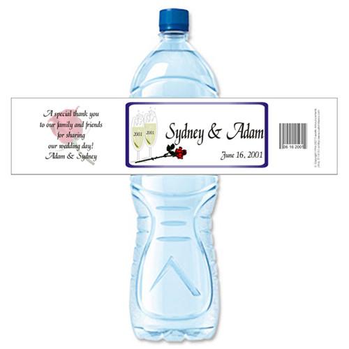 [Y282] Champagne Bubbles weatherproof water bottle label
