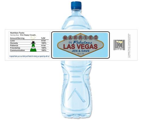[Y540] Vegas Wedding weatherproof water bottle label
