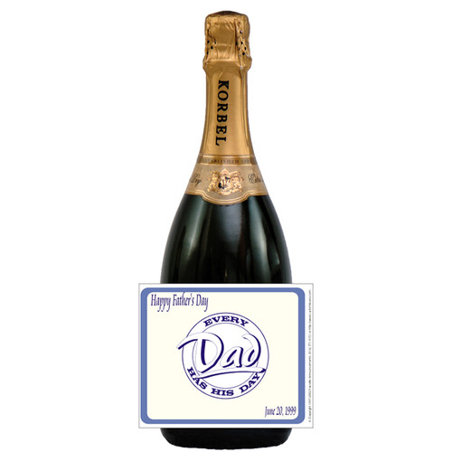 [L119] Fathers Day 1 Label - champagne bottle