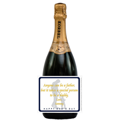 [L120] Special Daddy Label - champagne bottle