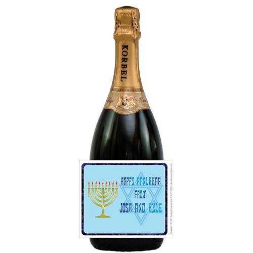 [L154] Kosher Label - champagne bottle