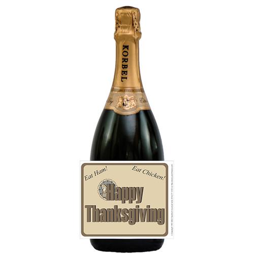 [L163] Thanksgiving - 2 Label - champagne bottle