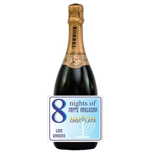 [L681] 8 Nights Label - champagne bottle