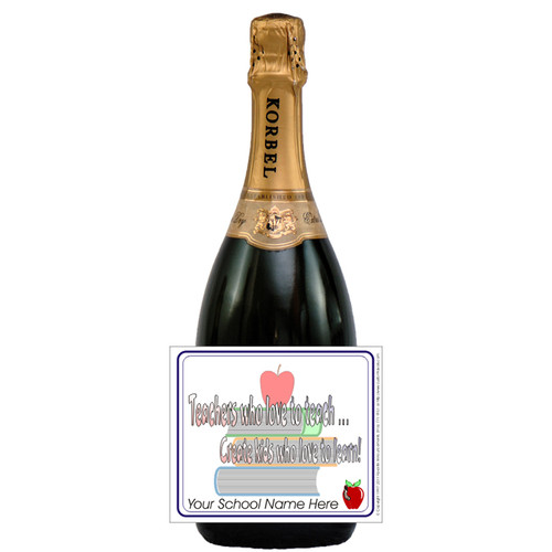 [L186] Teachers Who Teach Label - champagne bottle