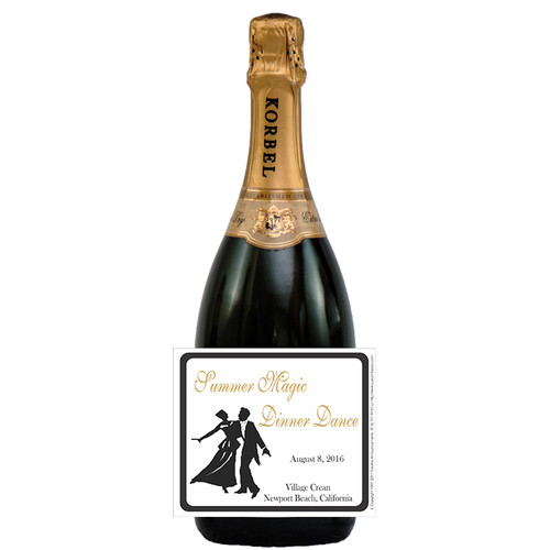 [L238] Dinner Dance Label - champagne bottle