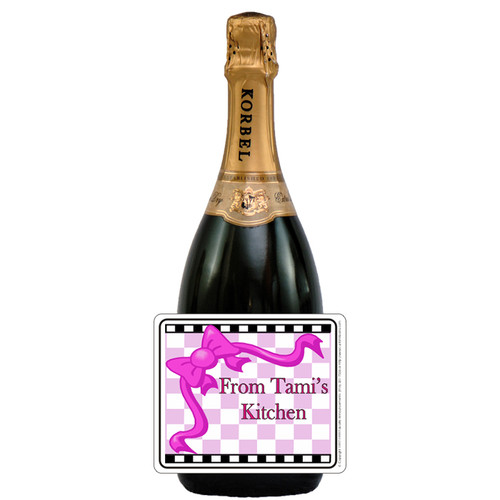 [L239] Kitchen 2 Label - champagne bottle