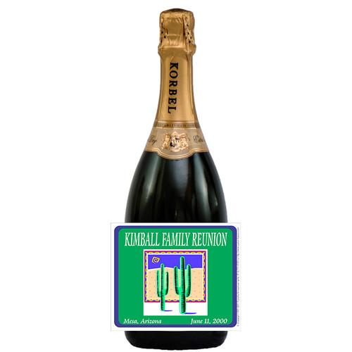 [L242] Logo Family Reunion Label - champagne bottle