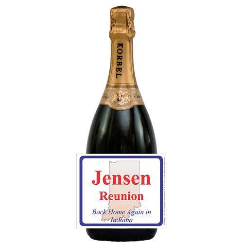 [L246] State Reunion Label - champagne bottle