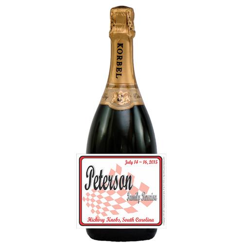[L247] Picnic Reunion Label - champagne bottle