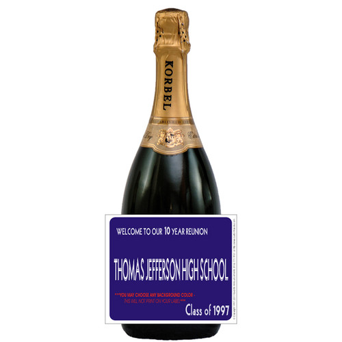 [L511] Colrd Bkgd-other colors avail Label - champagne bottle