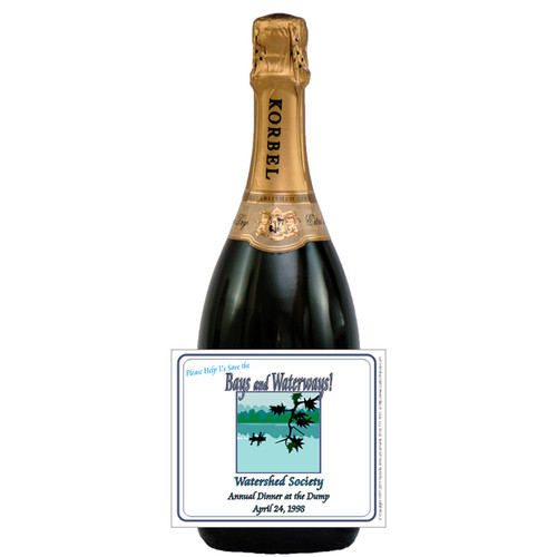 [L512] Non-Profit Dinner Label - champagne bottle