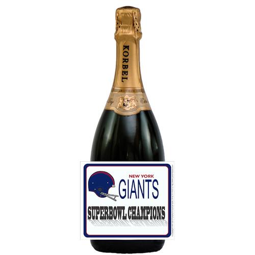 [L612] Super Bowl Champs Label - champagne bottle
