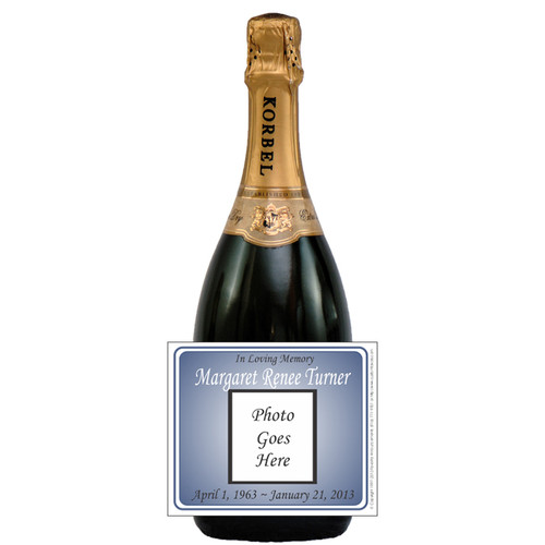 [L656] Photo Remembrance Label - champagne bottle