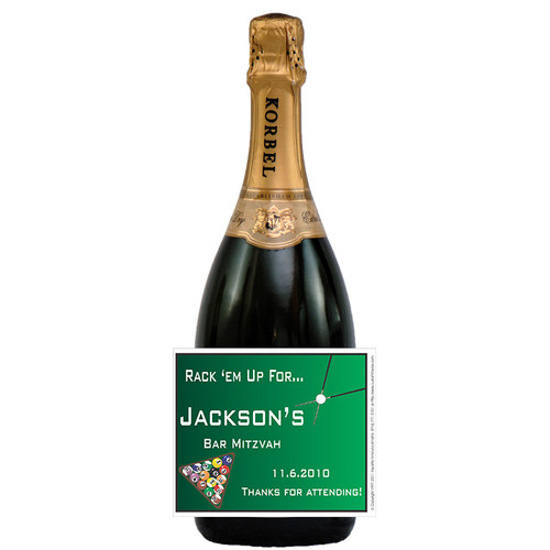 [L418] Billiard Label - champagne bottle