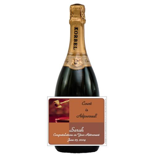 [L182] Adjourned Label - champagne bottle
