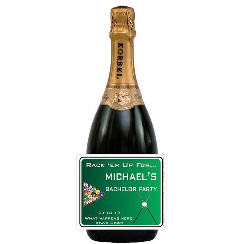 [L278] Billiard Label - champagne bottle