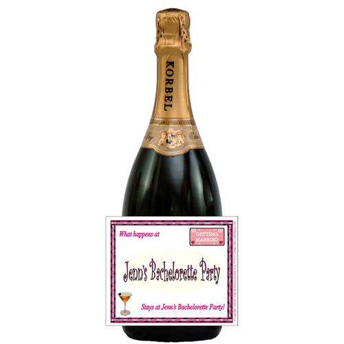 [L331] Happens At Bachelorette... Label - champagne bottle
