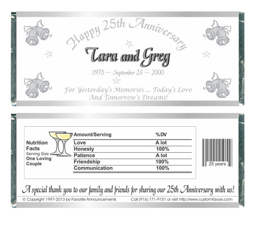 [W436] Bells Anniversary Wrappers - Front and Back