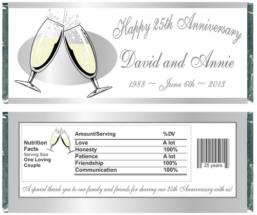 [W57] Anniversary Glasses Wrappers - Front and Back