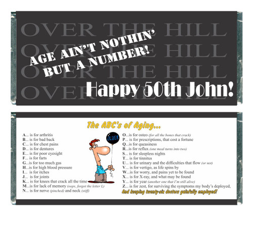 [W585] Over the Hill 2 Wrappers - Front and Back