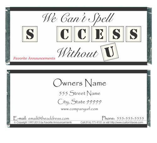 [W353] Business Success Wrappers - Front and Back