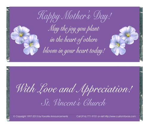 [W372] Mothers Day Flower Wrappers - Front and Back