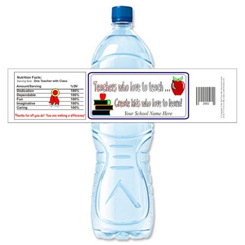 [Y262] Teachers Who Teach weatherproof water bottle label