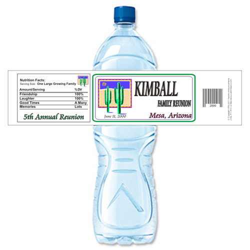 [Y303] Logo Family Reunion weatherproof water bottle label