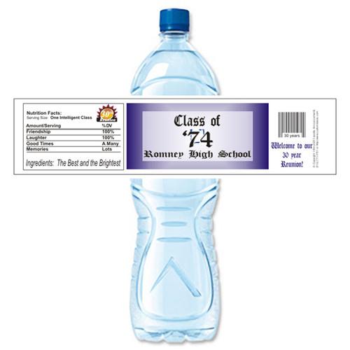 [Y304] Name Plate weatherproof water bottle label