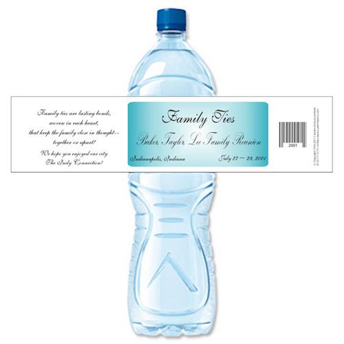 [Y305] Family Ties weatherproof water bottle label
