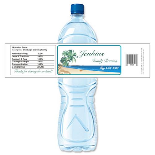 [Y306] Beach Reunion weatherproof water bottle label