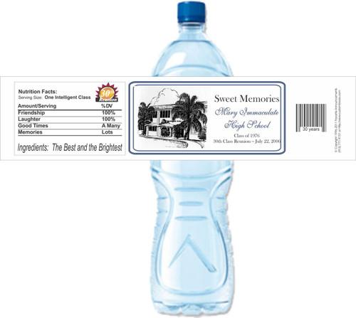 [Y309] High School Reunion Photo 2 weatherproof water bottle label