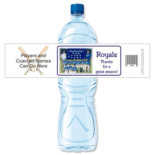 [Y470] Team Photo weatherproof water bottle label