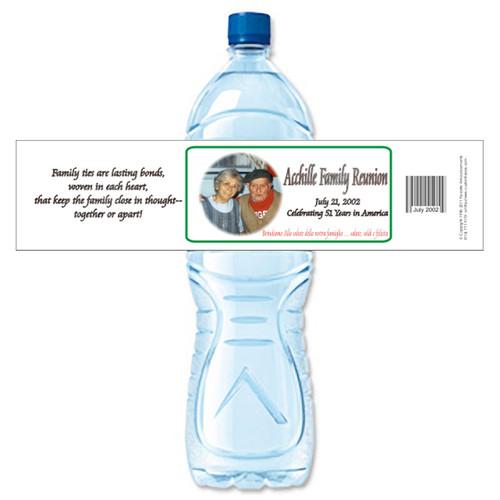 [Y474] Photo Reunion weatherproof water bottle label