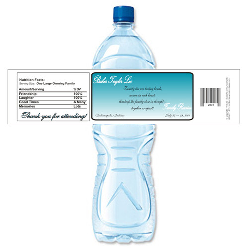 [Y482] Family Reunion weatherproof water bottle label