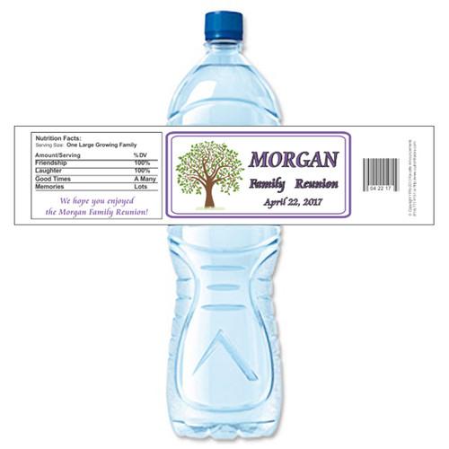 [Y702] Family Reunion Tree weatherproof water bottle label