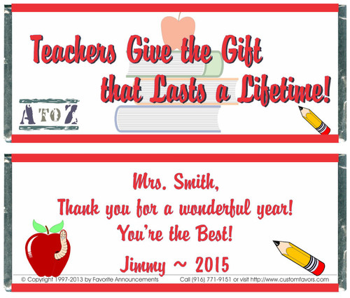 [W150] Teachers Give the Gift Wrappers - Front and Back