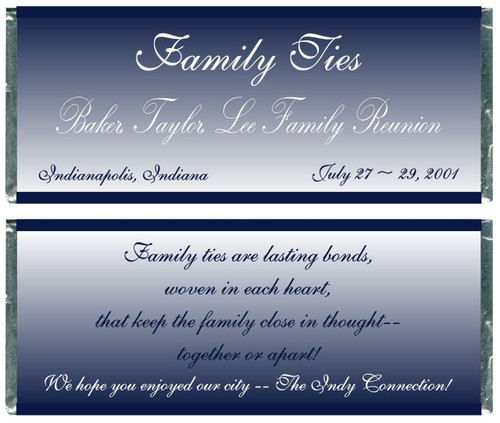 [W271] Family Ties Reunion Wrappers - Front and Back