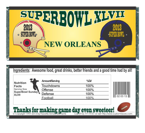 [W676] Super Bowl XLVII Wrappers - Front and Back