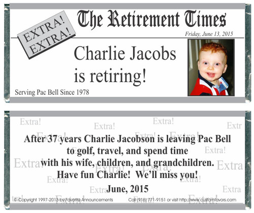 [W333] Retirement Times Photo Wrappers - Front and Back