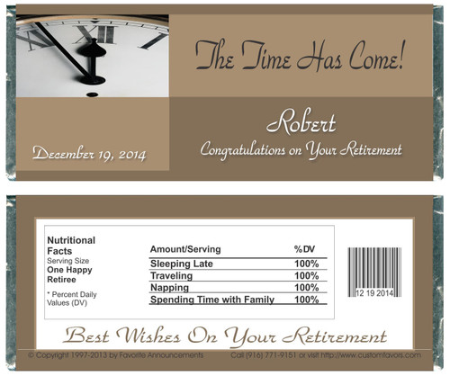 [W508] Time Has Come Retirement Wrappers - Front and Back