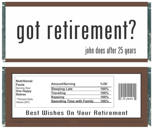 [W628] Got Retirement Wrappers - Front and Back
