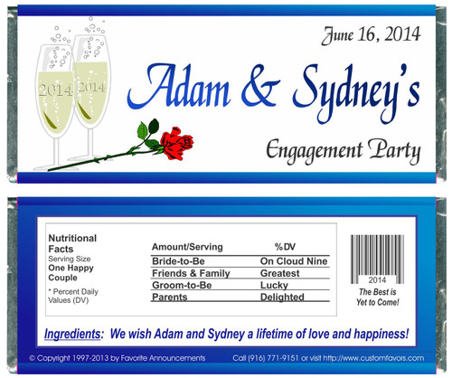[W141] Engagement Glasses Wrappers - Front and Back