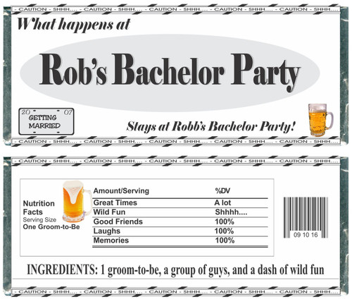[W145] Happens At Bachelor... Wrappers - Front and Back