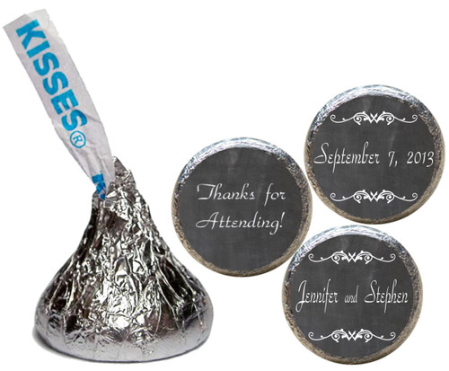 [KW04] Chalk Wedding Sticker - with candy kiss