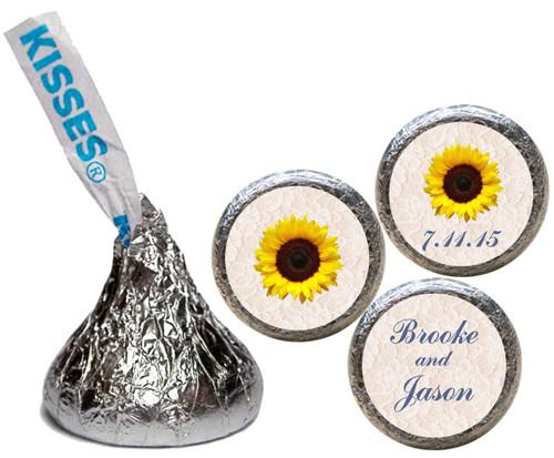 [KW09] Lace Sunflower Wedding Sticker - Candy Kiss