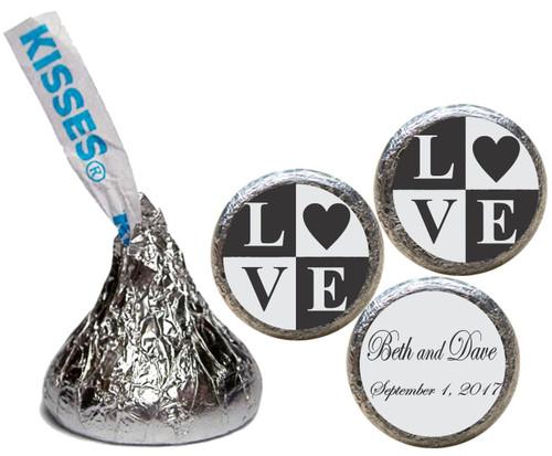 [KW10] Love Blocks Wedding Sticker - Candy Kiss