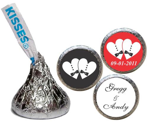 [KW17] Tuxedo Wedding Sticker - Candy Kiss