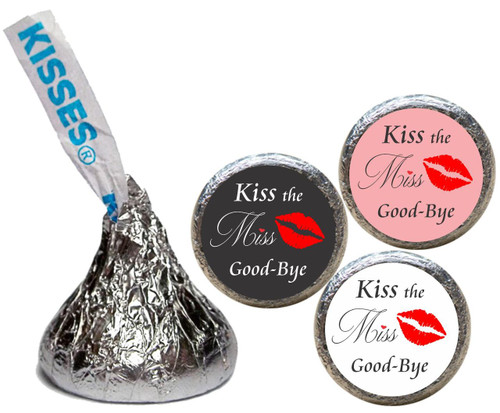 [KW19] Kiss the Miss Goodbye Bridal Shower Wedding Sticker - Candy Kiss