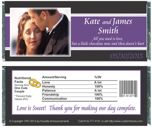 [WW57] Wedding Stripe Photo Wrappers - Front and Back